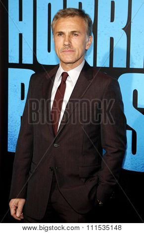 Christoph Waltz at the Los Angeles premiere of 'Horrible Bosses 2' held at the TCL Chinese Theatre in Los Angeles on November 20, 2014 in Los Angeles, California.
