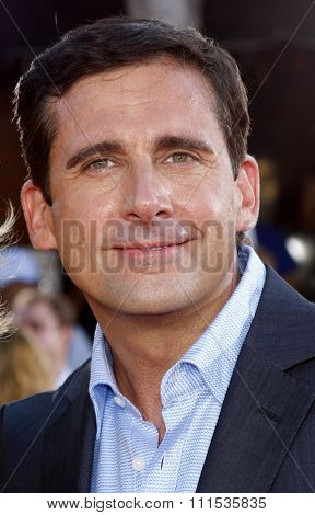 Steve Carell at the Los Angeles premiere of 'Get Smart' held at the Mann Village Theatre in Westwood on June 16, 2008.
