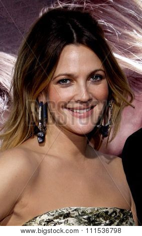 Drew Barrymore at the Los Angeles premiere of 'Going The Distance' held at the Grauman's Chinese Theater in Hollywood on August 23, 2010.
