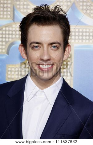 Kevin McHale at the Los Angeles premiere of 'Glee: The 3D Concert Movie' held at the Regency Village Theatre in Westwood on August 6, 2011.