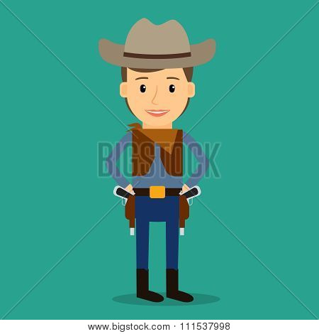 Country western. Boy dressed as cowboy