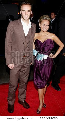 Charlie McDowell and Kristin Chenoweth at the Los Angeles premiere of Four Christmases held at the Grauman's Chinese Theater in Hollywood on November 20, 2008.