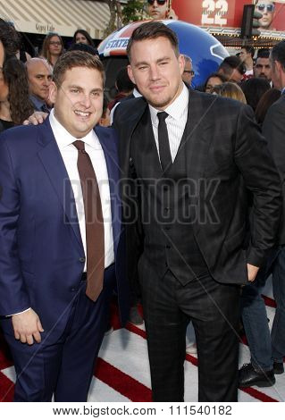 Channing Tatum and Jonah Hill at the Los Angeles premiere of