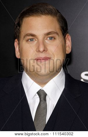 Jonah Hill at the Los Angeles premiere of '21 Jump Street' held at the Grauman's Chinese Theater in Hollywood on March 13, 2012.