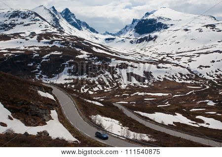 Car On A Mountain Road