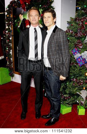 Neil Patrick Harris and David Burka at the Los Angeles premiere of 'A Very Harold & Kumar 3D Christmas' held at the Grauman's Chinese Theater in Hollywood on November 2, 2011.