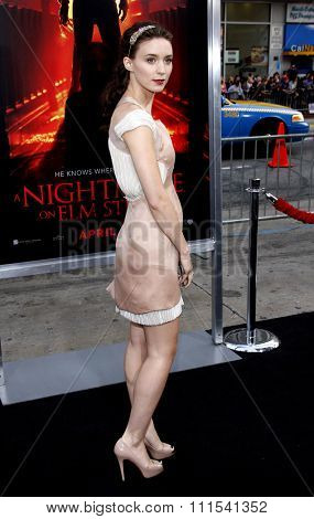Rooney Mara at the Los Angeles premiere of 'A Nightmare On Elm Street' held at the Grauman's Chinese Theatre in Hollywood on April 27, 2010.