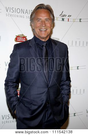 Don Johnson at the Los Angeles premiere of 'Alex of Venice' held at the London Hotel in West Hollywood, USA on April 8, 2015.