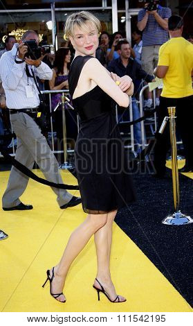 Renee Zellweger at the Los Angeles premiere of 'Bee' held at the Mann Bruin Theater in Westwood on October 28, 2007.