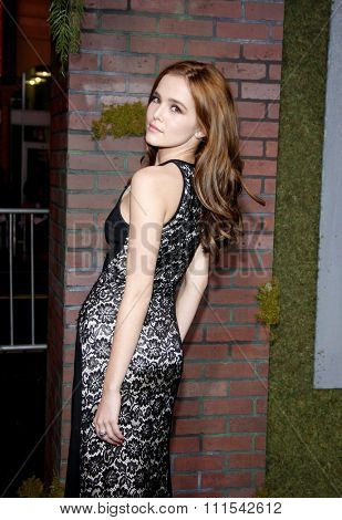 Zoey Deutch at the Los Angeles premiere of 'Beautiful Creatures' held at the TCL Chinese Theater in Hollywood on February 6, 2013 in Los Angeles, California.