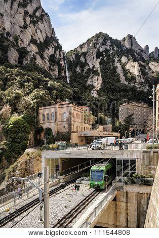 Train At Montserrat In Spain