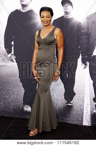 Verna Griffin at the Los Angeles premiere of 'Straight Outta Compton' held at the Microsoft Theatre in Los Angeles, USA on August 10, 2015.