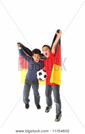 two football fans