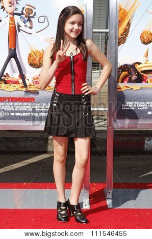 September 12, 2009. Ariel Winter at the Los Angeles premiere of