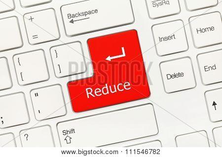 White Conceptual Keyboard - Reduce (red Key)