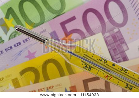 clinical thermometer and euro