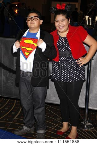 Raini Rodriguez and Rico Rodriguez at the Los Angeles premiere of 'Megamind' held at the Hollywood and Highland in Hollywood, USA on October 30, 2010.