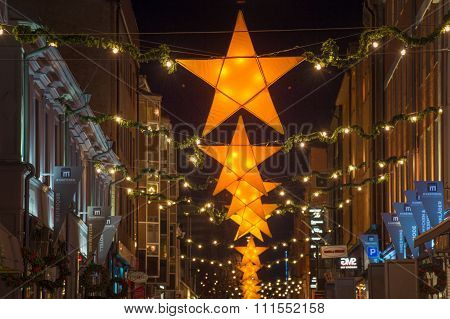 Traditional Christmas decorations in Sweden