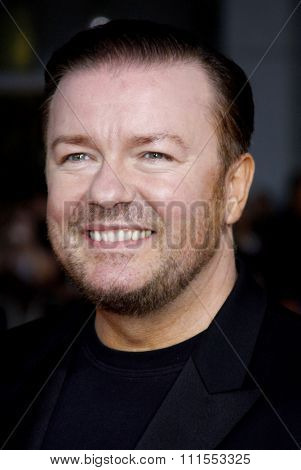 Ricky Gervais at the Los Angeles premiere of 'The Invention of Lying' held at the Grauman's Chinese Theater in Hollywood, USA on September 21, 2009.