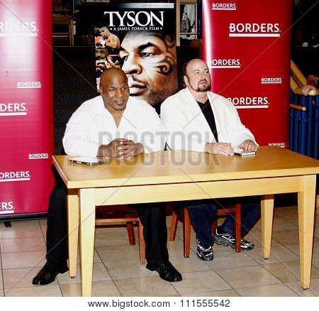 James Toback and Mike Tyson promotes the Blu-ray and DVD 'Tyson' held at the Borders in Hollywood, USA on August 18, 2009.