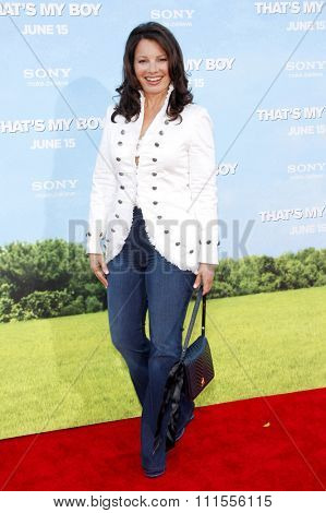 Fran Drescher at the Los Angeles premiere of 'That's My Boy' held at the Westwood Village Theater in Los Angeles, USA on June 4, 2012.