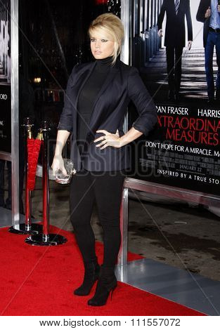 Jessica Simpson at the Los Angeles premiere of 'Extraordinary Measures' held at the Grauman's Chinese Theater in Hollywood, USA on January 19, 2010.