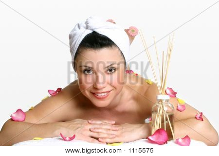 Smiling Woman Day Spa
