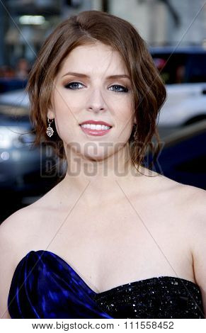 Anna Kendrick at the Los Angeles premiere of 'Scott Pilgrim vs. The World' held at the Grauman's Chinese Theater in Hollywood, USA on July 27, 2010.