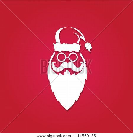 Christmas hipster greeting card