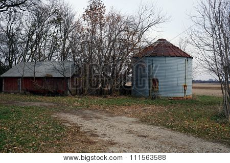 Old Silo and Shed