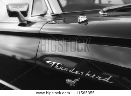 Side view of the vehicle Classic Ford Thunderbird