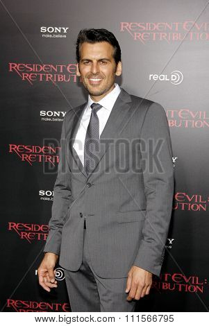 LOS ANGELES, CA - SEPTEMBER 12, 2012: Oded Fehr at the Los Angeles premiere of 'Resident Evil: Retribution' held at the Regal Cinemas L.A. Live in Los Angeles, USA on September 12, 2012.
