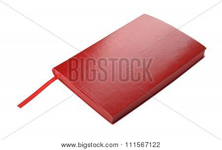 Red diary Isolated on white background