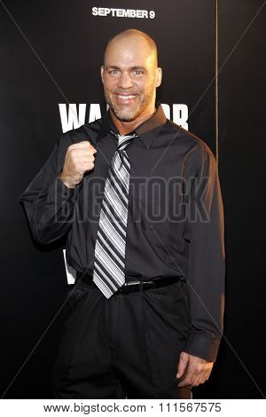 HOLLYWOOD, CA - SEPTEMBER 06, 2011: Kurt Angle at the Los Angeles premiere of 'Warrior' held at the ArcLight Cinemas in Hollywood, USA on September 6, 2011.