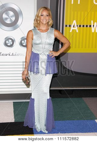LOS ANGELES, CA - AUGUST 30, 2015: Amy Paffrath at the 2015 MTV Video Music Awards held at the Microsoft Theater in Los Angeles, USA on August 30, 2015.