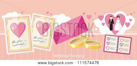 Wedding Planning Design Flat Fashion
