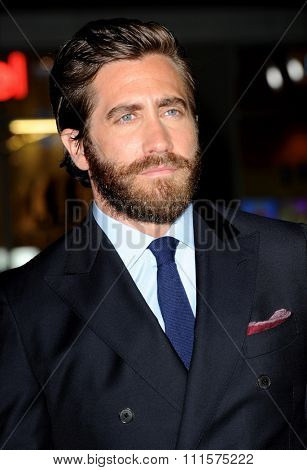 HOLLYWOOD, CA - SEPTEMBER 09, 2015: Jake Gyllenhaal at the Los Angeles premiere of 'Everest' held at TCL Chinese Theater in Hollywood, USA on September 9, 2015.