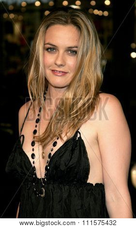 HOLLYWOOD, CA - OCTOBER 10, 2005: Alicia Silverstone at the Los Angeles premiere of 'North Country' held at the Grauman's Chinese Theatre in Hollywood, USA on October 10, 2005.