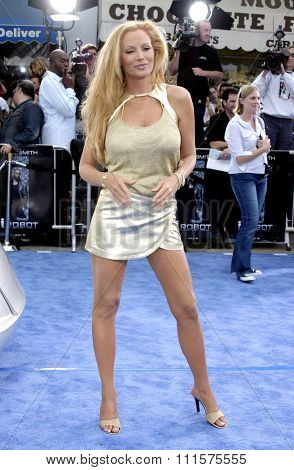 WESTWOOD, CA - JULY 07, 2004: Cindy Margolis at the World premiere of 'I, Robot' held at the Mann Village Theatre in Westwood, USA on July 7, 2004.