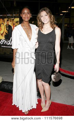 HOLLYWOOD, CA - FEBRUARY 06, 2006: Jessica Biel and Joy Bryant at the Los Angeles premiere of 'London' held at the Arclight Cinemas in Hollywood, USA on February 6, 2006.