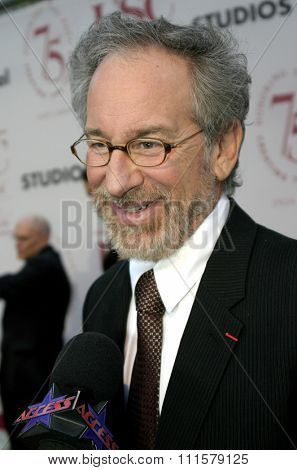 Steven Spielberg at the 75th Diamond Jubilee Celebration for the USC School of Cinema-Television held at the USC's Bovard Auditorium in Los Angeles, USA on September 26, 2004.