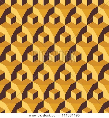 Vector modern seamless colorful geometry cube prism pattern color abstract