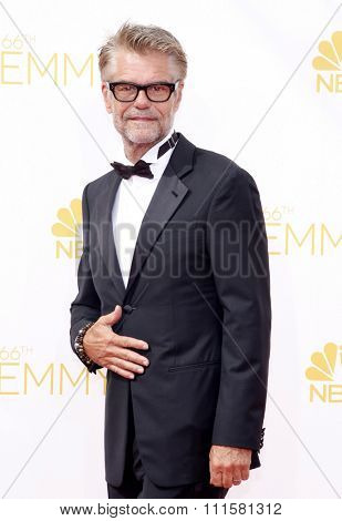LOS ANGELES, CA - AUGUST 25, 2014: Harry Hamlin at the 66th Annual Primetime Emmy Awards held at the Nokia Theatre L.A. Live in Los Angeles, USA on August 25, 2014.