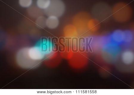 Street lights, blur