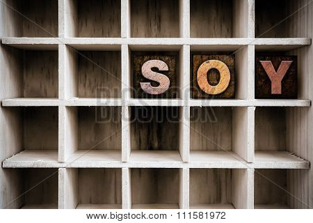 Soy Concept Wooden Letterpress Type In Drawer