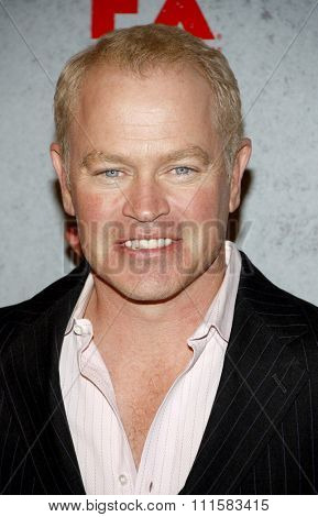 HOLLYWOOD, CA - JANUARY 10, 2012: Neal McDonough at the season 2 premiere of FX's 'Justified' held at the DGA Theater in Hollywood, USA on January 10, 2012.