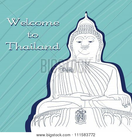 Vector Illustration. World Famous Landmark Series: Thailand, Big
