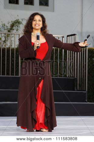 HOLLYWOOD, USA - JANUARY 26, 2012: Debbie Allen at the Michael Jackson Immortalized held at the Grauman's Chinese Theatre in Los Angeles, USA on January 26, 2012.