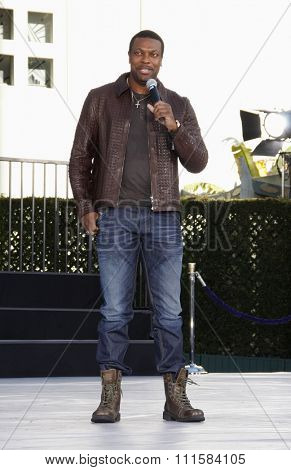 HOLLYWOOD, CA - JANUARY 26, 2012: Chris Tucker at the Michael Jackson Immortalized held at the Grauman's Chinese Theatre in Los Angeles.