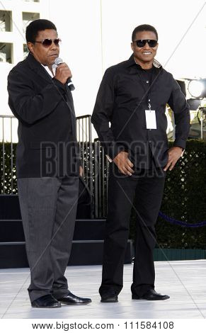 HOLLYWOOD, CA - JANUARY 26, 2012: Tito Jackson and Jackie Jackson at the Michael Jackson Immortalized held at the Grauman's Chinese Theatre in Los Angeles.